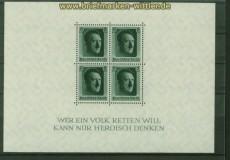 dt. Reich Mi # Block  7 postfrisch 48. Geburtstag (41049)