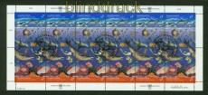 UNO Wien Mi # 127/28 im Zusammendruckbogen gestempelt Saubere Meere (34900)