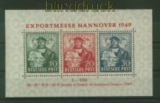 Bi-Zone Mi # Block 1 a Hannover Messeblock postfrisch (34848)