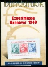 Bi-Zone Mi # Block 1 a Hannover Messeblock postfrisch im Folder (34844)