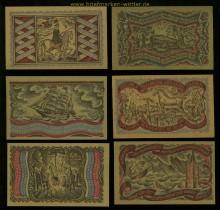 Oldenburg i. O.  6 Notgeldscheine 1921 der Handelskammer (35136)