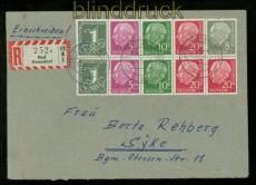 Bund Heftchenblatt 8 X auf R-Brief geprüft Schlegel BPP (34980)