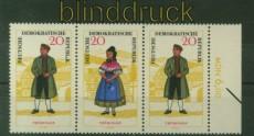 DDR Zusammendrucke Mi # 1074/79 WZd 155 postfrisch Volkstrachten (34971)