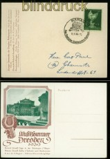 Deutsches Reich Sonderpostkarte Musiksommer Dresden 1939 SSt. (40231)