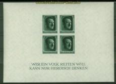 dt. Reich Mi # Block  8 postfrisch 48. Geburtstag (40842)