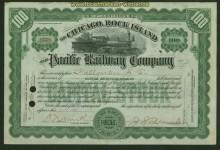 USA Aktie Chicago Rock Islands Pacific Railroad Companie 1916 Expertise (41354)