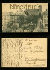 ZABERN sw-AK Schloßflügel mit Pfarrkirche Feldpost 1917 (d6365)