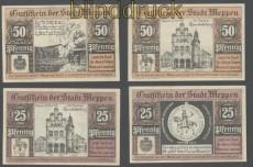 MEPPEN zwei Norgeldscheine 25 und 50 Pfennig (35670)