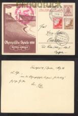 Zeppelinpost Sieger # 427 B d Olympia-Ganzsache (42704)