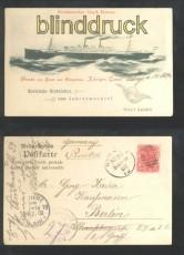Dampfer Königin Luise sw-AK Gruss von Bord Sidney 1902 (d6976)