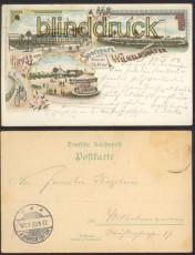 WILHELMSHAVEN farb-Litho-AK Gruss vom Sportpark 1903 (d0197)
