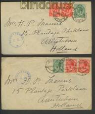 Südafrika 7 Auslands-Zensur-Briefe aus den jahren 1915 bis 1918 (21293)