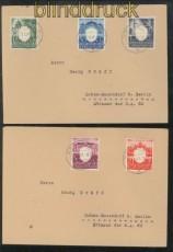Generalgouvernement Mi # 105/09 auf 2 Satz-Briefen Krakau 1943 (43152)