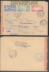 Tscheschoslowakei Auslands-Zensur-R-Brief Mlada Boleslav 1955 (45043)