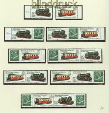 DDR Zusammendrucke Mi # 2562/65 postfrisch WZd 475/86 Schmalspurbahnen (34360)
