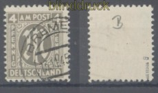 Bi-Zone AM-Post Mi #  18 B gestempelt geprüft Wehner BPP (45386)