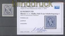 Bi-Zone AM-Post Mi #  34 a B z postfrisch Feld 15 Kurzbefund Wehner BPP (45633)