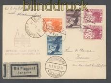 Zeppelinpost LZ 127 Mi # 139 Ostseejahr-Rundfahrt 1931 Zuleitung Österreich (45708)