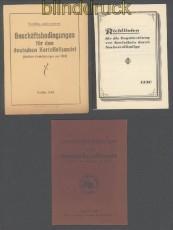 Kartoffelhandel Richtlienien und Geschäftsbedingungen 1924 und 1930 drei Hefte (45718)