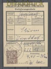 Berlin Mi #  48 EF auf Einlieferungsschein 6.2.1951 (45737)