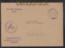 dt. Reich Bernstadt RAD Reichsarbeitsdienst Dienststelle Lager 3/76 4.6.1942 (45757)