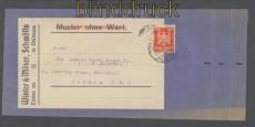 dt. Reich Mi # 357 EF Muster ohne Wert nach London Schmölln 1925 (45760)