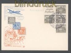 Berlin Zusammendruck S 1 oder W 1 auf Festpostkarte 100 Jahre Deutsche Briefmarken Sonderstempel (45