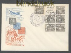 Berlin Zusammendruck S 1 oder W 1 auf Festumschlag 100 Jahre Deutsche Briefmarken Sonderstempel (457