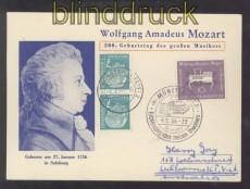 Bund Mozart Sonderpostkarte zum 200. Geburtstag Sonderstempel SSt. (45746)