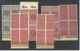 dt. Reich 7 Zollgebührenmarken in ** 4er-Blöcken(16275)