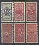 dt. Reich 6 postfrische Zollgebührenmarken (16274)