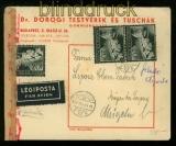 Ungarn Mi # 695 (3) auf Auslands-Brief mit deutscher Zensur 1943 (40321)