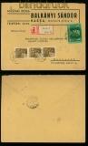 Ungarn Mi # 657 und 712 (3) R-Brief Kassa 1943 (40327)