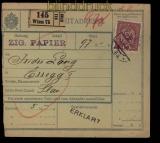 Österreich Postbegleitadresse aus Wien nach Essegg Osijek (29068)