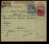 Österreich Postbegleitadresse aus Wien nach Pozega  (29070)