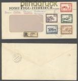 Österreich Mi # 785/89 mit Tagesstempel auf Firmen-R-Brief Feldkirch 25.10.1946 (44303)