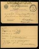 Österreich portofreie Korrespondenzkarte TROPPAU 1892 (35126)