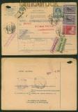 Österreich Post-Begleitadresse 10 Heller mit Mi # 173 und 174 (2) nach Konstantinopel 1916 (35176)