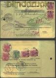 dt. Reich Auslands-Paketkarte Leipzig 14.9.1921 (13061)