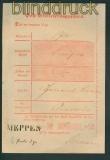 dt. Reich Posteinlieferungsschein MEPPEN 10.2.1872 (25937)