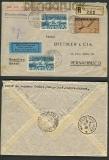 Schweiz Auslands-Luftpost-Brief Mi # 245+2 x 258(21654)