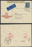 Schweiz Auslands-LuPo-Zensur-Brief Zürich 1942 Deutsche Zensur (44959)