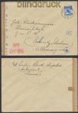 Schweiz Auslands-Zensur-Brief Delémont 1943 Deutsche Zensur (44961)