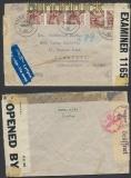 Schweiz Auslands-LuPo-Zensur-Brief Engelberg 1943 Doppel-Zensur (44973)