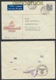 Schweiz Auslands-LuPo-Zensur-Brief Zürich 1940 Deutsche Zensur (44954)