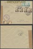 Tscheschoslowakei Auslands-Zensur-Brief Straznice 1946 (45040)