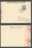 Slowakei Mi # 43 A  EF Auslands-Zensur-Brief Bratislava 27.3.1941 (43062)