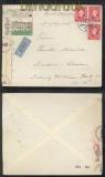 Slowakei Mi # 40 (3) MeF Auslands-Zensur-LuPo-Brief Pistany 1941 (43067)