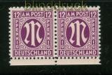 Bi-Zone AM-Post AM-Post Mi # 7 I im postfrischen waagerechten Paar (25181)