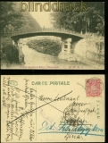 Japan NIKKO sw-AK Mihashi (The Sacred Bridge) 1911 nach Kiautschou (41915)